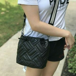 Michael Kors Leather Peyton XS Bucket Crossbody